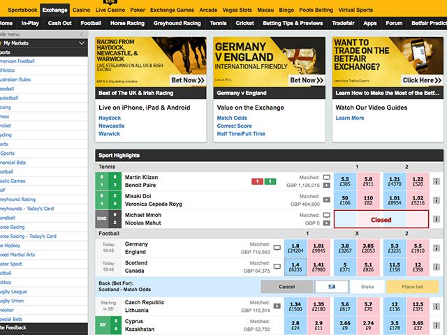 betting betfair pools