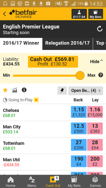 betfair old exchange