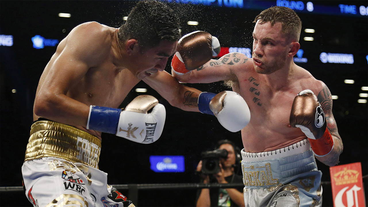 Carl Frampton beats Horacio Garcia in bruising Belfast encounter