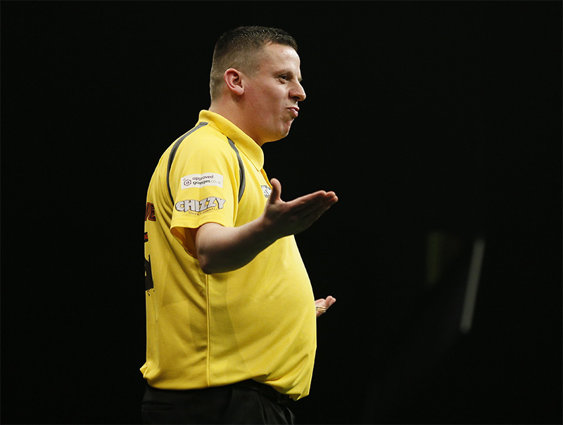 Dave Chisnall's first round was the highest of anyone, just over 100