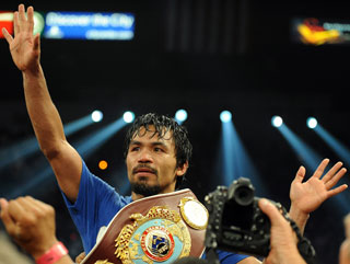 Manny Pacquiao will be doing this again at the end of the fight
