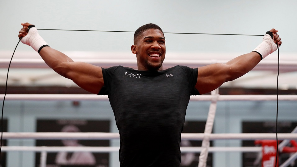 Anthony Joshua works out - but will he be stretched by Carlos Takam?