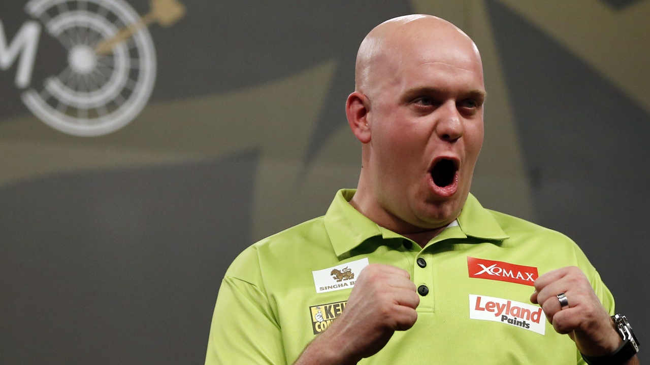 Michael van Gerwen will be hoping to hit a bullseye tonight