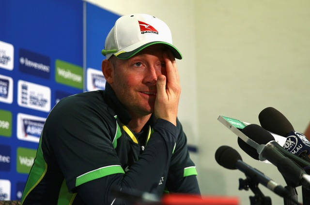 Retiring Aussie legend Michael Clarke looks set to bow out in style