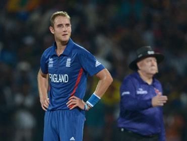 Stuart Broad captains the England T20 side
