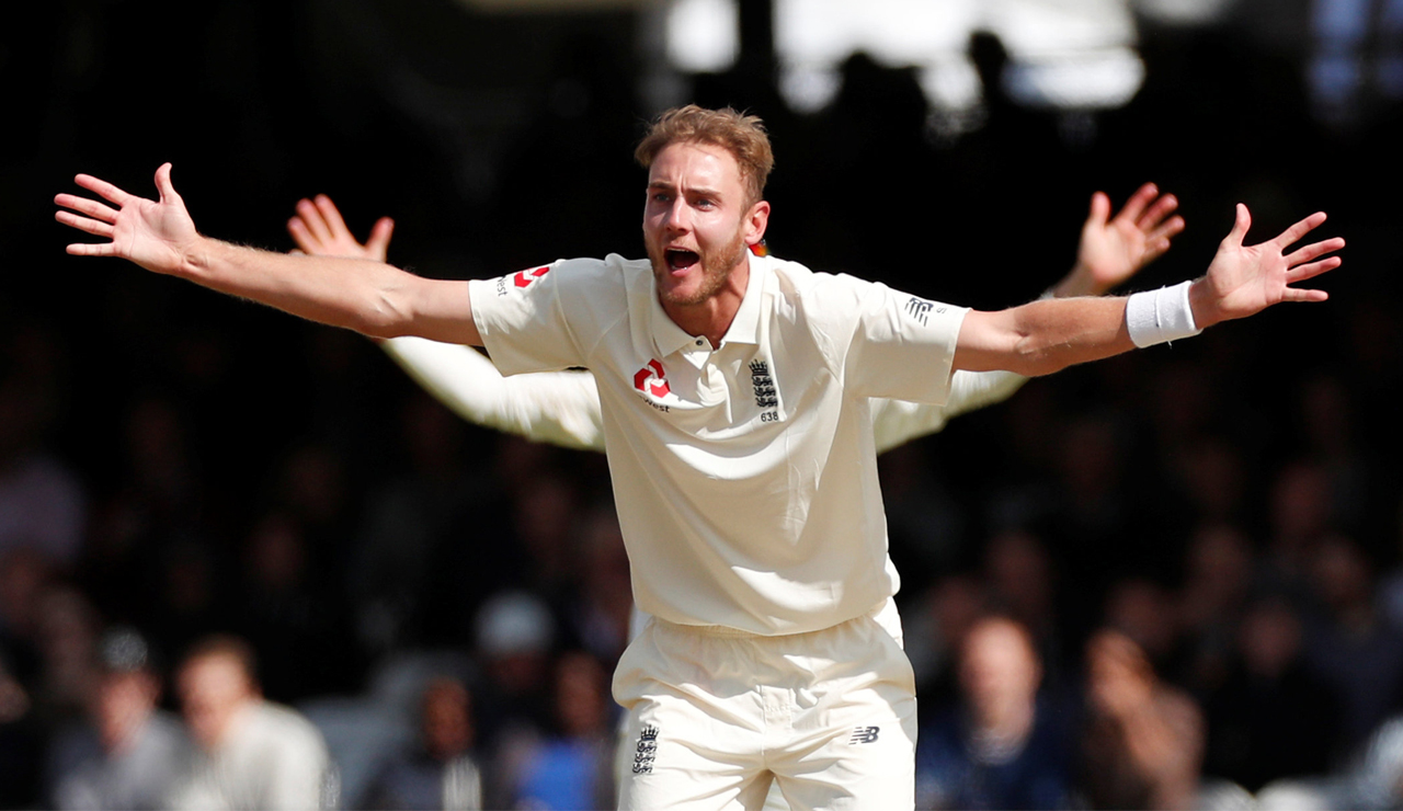 Stuart Broad is a big fan of using DRS...when he's the one bowling.