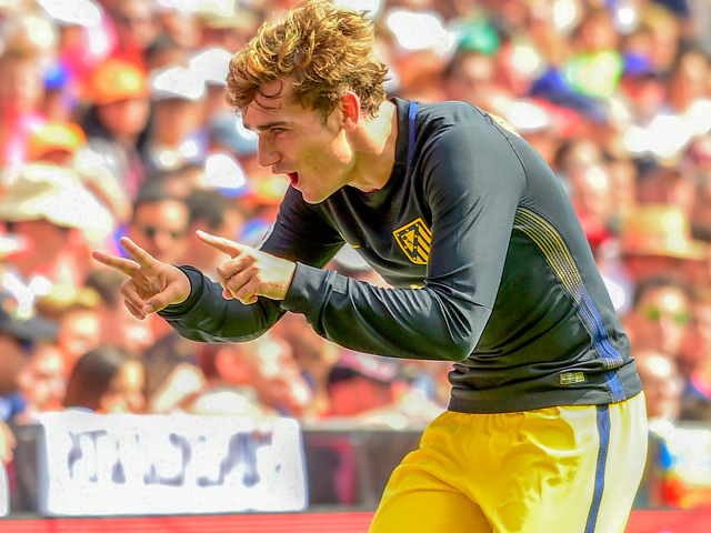Antoine Griezmann - on his way to Old Trafford?