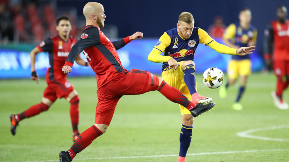 Michael Bradley's Toronto FC will be happy to leave Red Bull Arena with a point