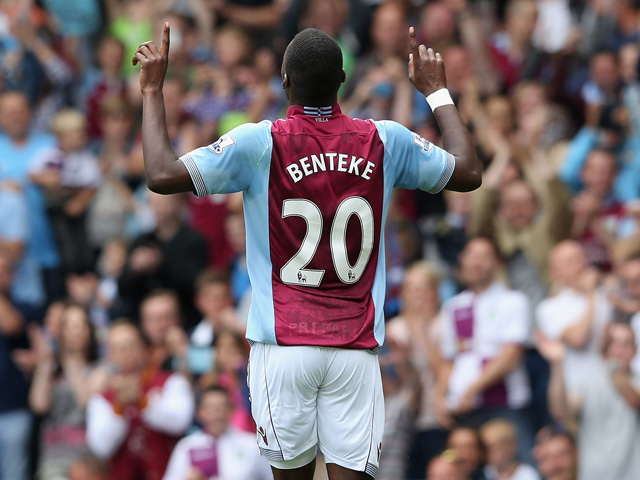 Christian Benteke has told Tim Sherwood that he feeds off crosses, which are a rare commodity at Liverpool