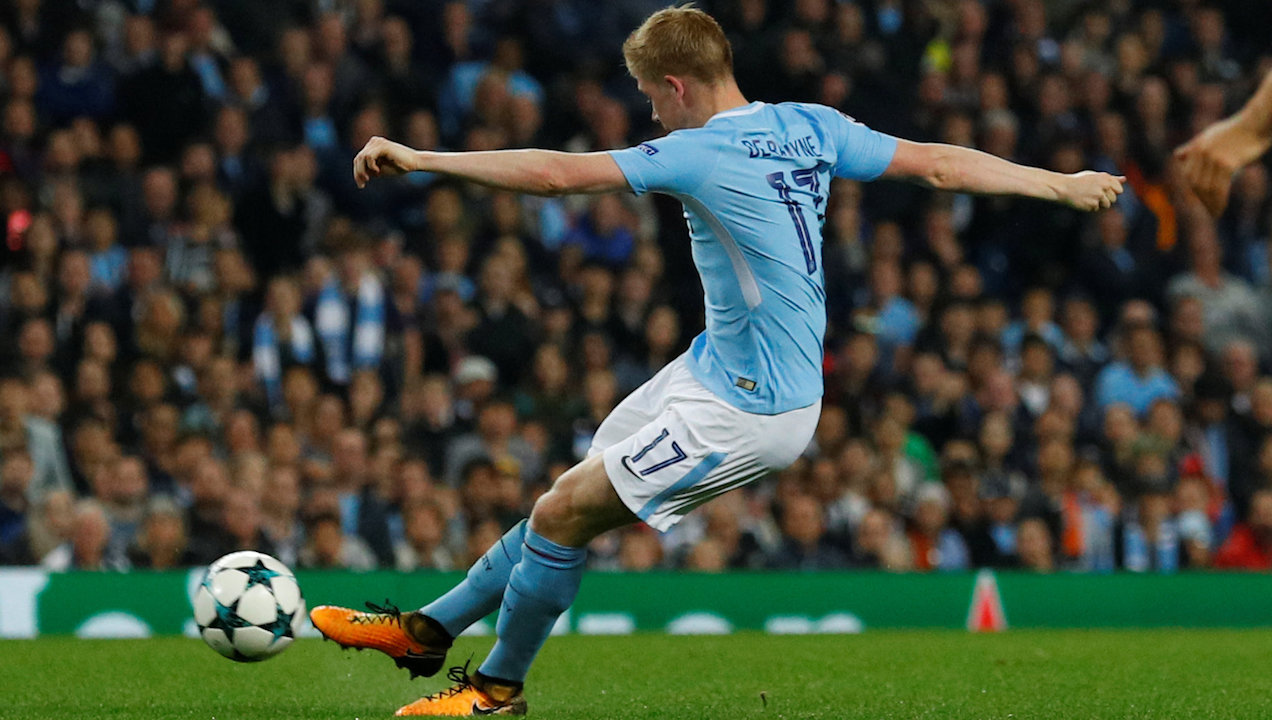 Kevin De Bruyne may drift to the right flank