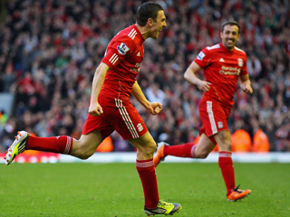 Stewart Downing's goal against Stoke booked Liverpool's last-four place