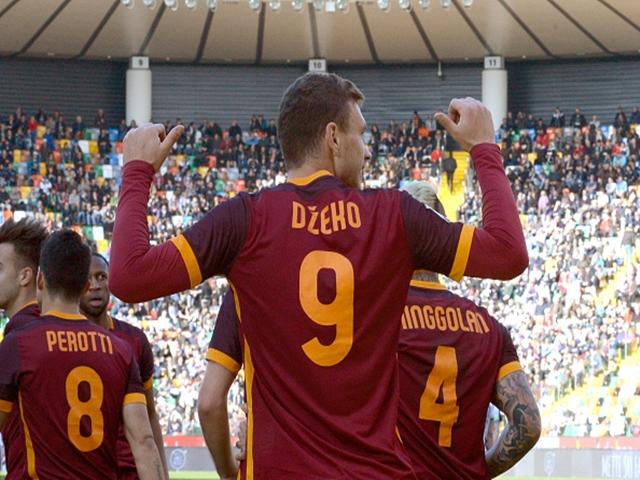 Edin Dzeko has been a goalscoring machine in Rome