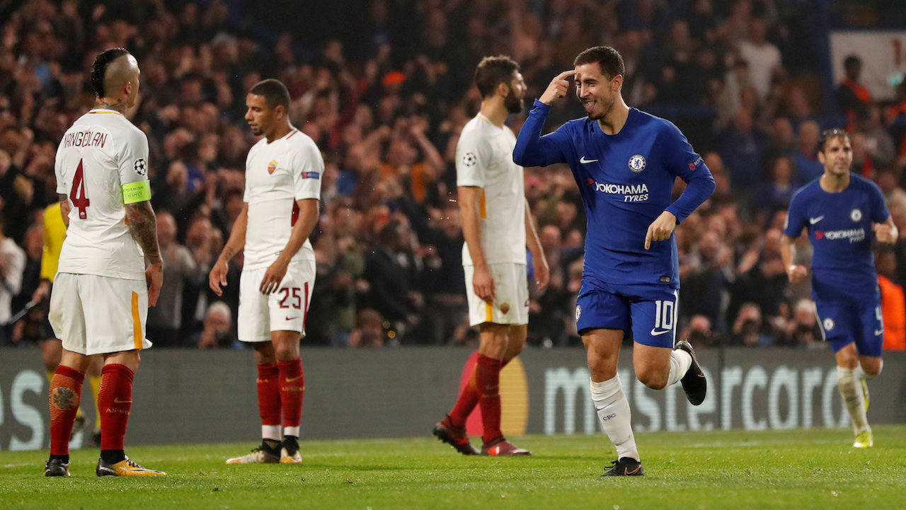 Eden Hazard managed his first two goals of the season in midweek