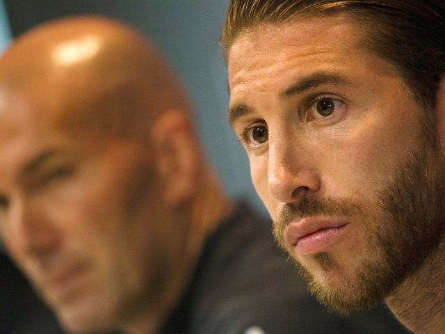 Sergio Ramos perfects his best angelic gaze ahead of the Champions League final