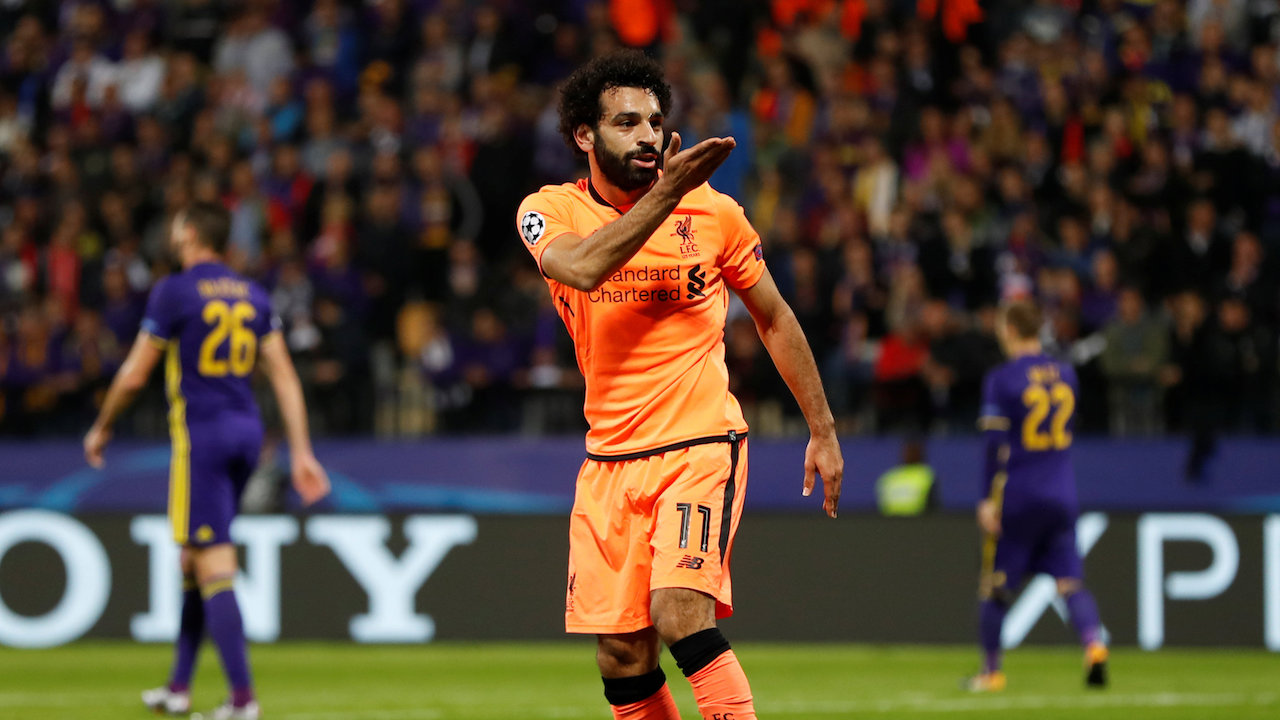Mohamed Salah bagged two in midweek, and is Liverpool's key man here