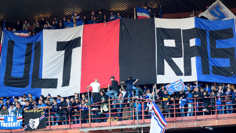 Sampdoria ultras will be the ones celebrating at the end of the Derby della Lanterna