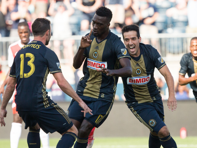 CJ Sapong and Ilsinho could be celebrating another Philly success against SKC