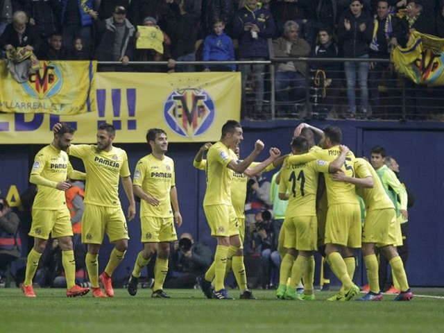 The Villarreal players have put their Real Madrid heartbreak behind them