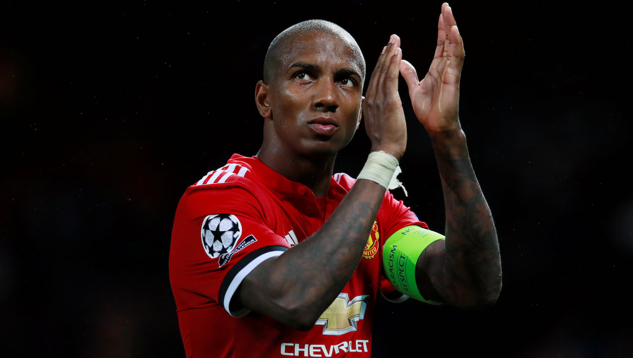 Ashley Young may be used as a defensive-minded winger