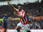 Ricardo Fuller celebrates after netting twice in Stoke's 3-1 win over Arsenal