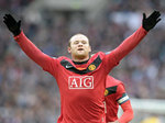 Wayne Rooney celebrate scoring the winner at Wembley