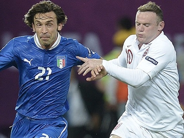 Can Wayne Rooney stop Andrea Pirlo this time?