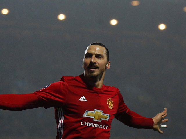 Ibrahimovic (above) scored 28 goals in one season for United