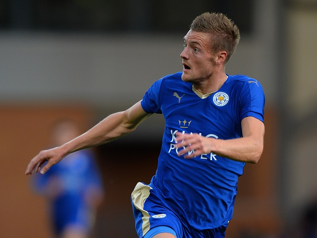 Jamie Vardy (above) will be crucial to Leicester's chances against Atletico