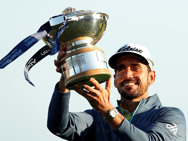 Rafa Cabrera-Bello with the Scottish Open trophy