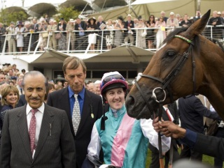 Frankel and connections celebrate their Sussex win