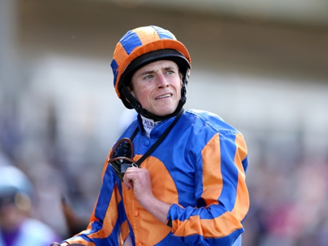 Ryan Moore will don the blue and orange silks aboard Churchill in the Sussex Stakes