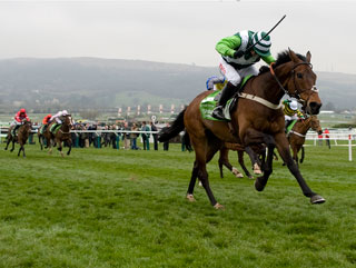 Rock On Ruby comes home to win the Champion Hurdle - will it be more big race glory at Aintree?