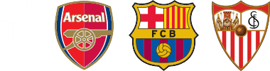 Official partner of Juventus, FC Barcelona and Arsenal FC