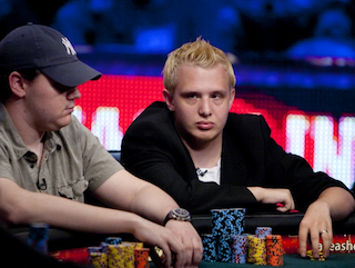 Max Heinzelmann was looking to try something a little different against Shaun Deeb on Day 3 (Photo credit: PokerNews / WSOP.com)