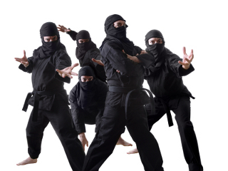 Ninjas. What would they move all-in with?