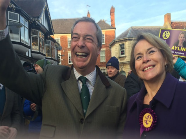 Former leader Nigel Farage has not left the campaign trail