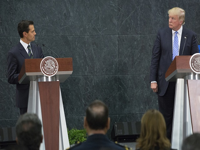 Trump's meeting with the Mexican President dominated world headlines