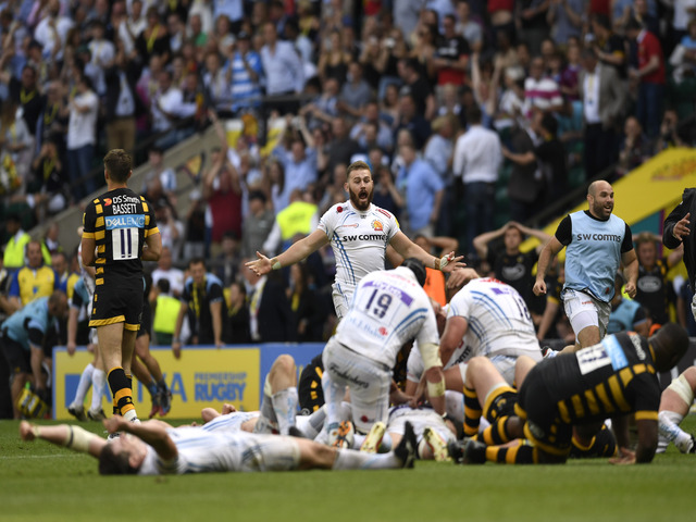 Exeter defeated Wasps in their last meeting after a dramatic Premiership final at Twickenham