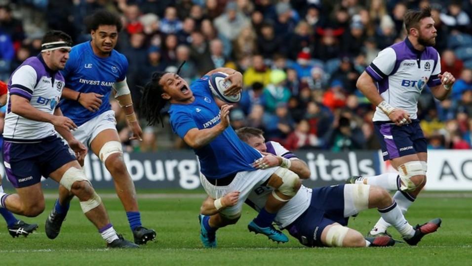 Scotland were narrowly beaten in France in their last match