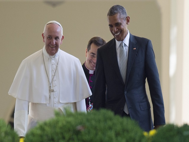 Pope Francis with 2009 Nobel Peace Prize winner President Obama