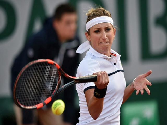 Timea Bacsinszky is value in the battle of the birthday girls today...