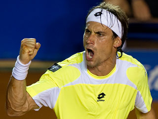 David Ferrer often gets over the line through sheer determination