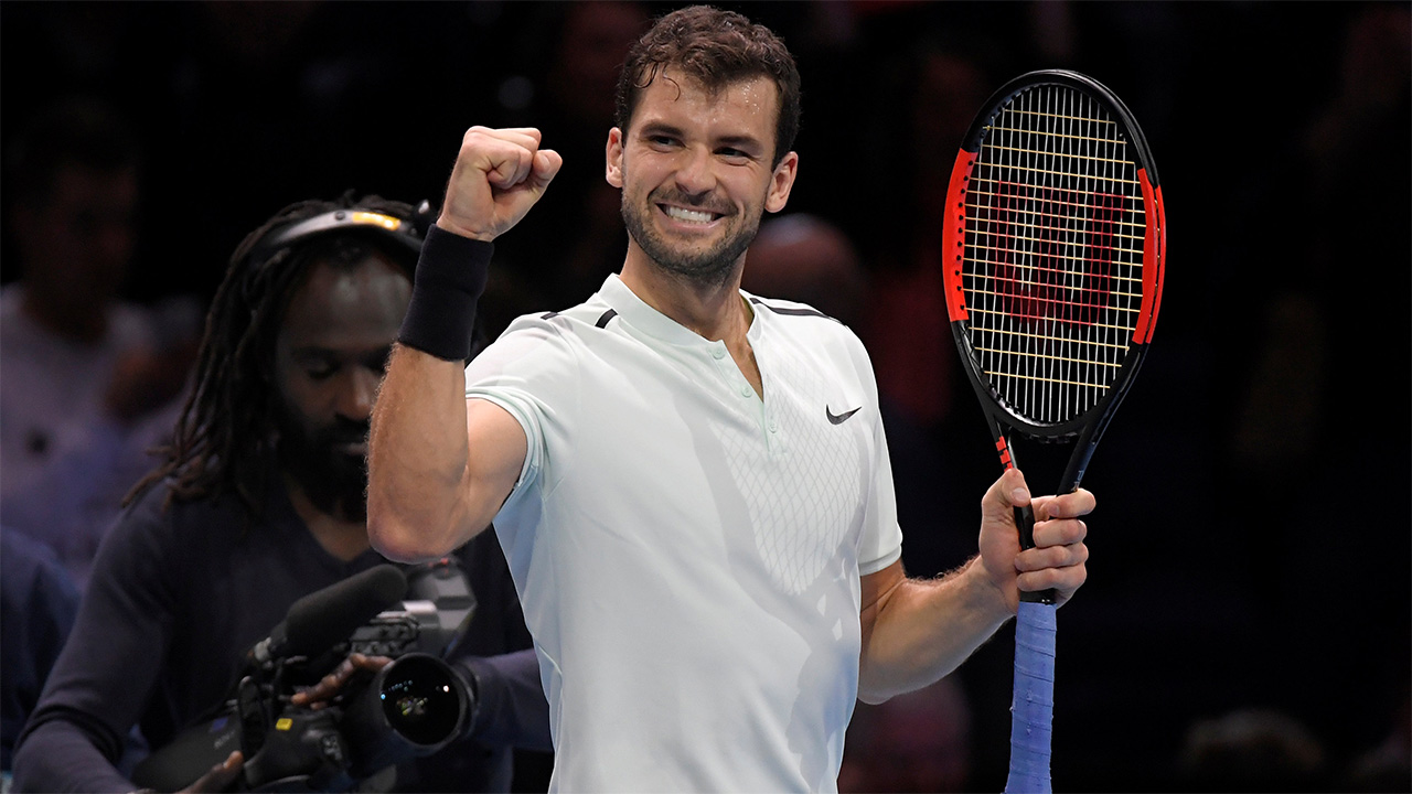 Grigor Dimitrov is a strong favourite to take the title this evening...