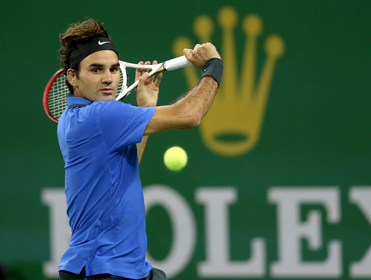 Roger Federer is the tournament favourite in Shanghai...