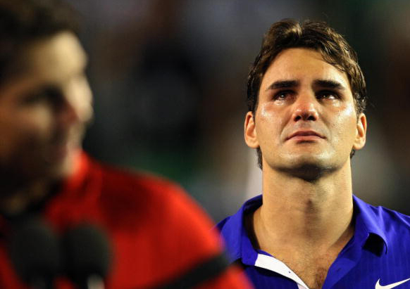 Federer cries his fans a river after as he allows Nadal to get the better of him again
