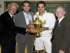 Rod Laver, Pete Sampras and Bjorn Bjorg may be true legends of the game but they didn't have to face the sort of oppponents Roger Federer has to.