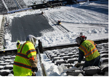 It's been snow joke trying to get the MetLife Stadium ready for the Superbowl